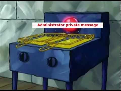--Administrator private message --