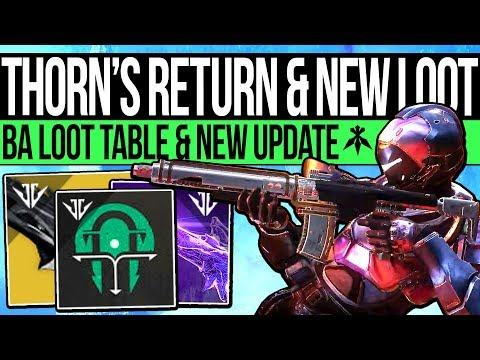 Destiny 2 | THORN'S RETURN & SECRET FORGE DROPS! Game Update, Loot Table, Jokers Wild Power & Armor!