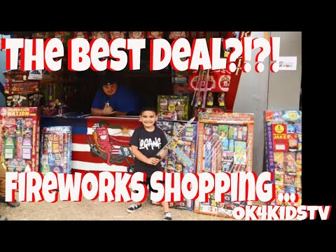 We got the best 4th of July  deal? Fireworks shopping at Nisqualy Reservation  ok4kidstv video 156
