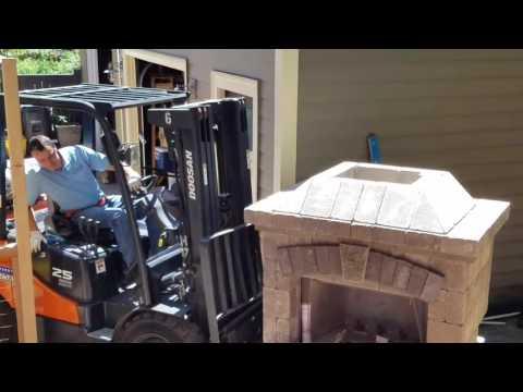 Installing Belgard Fireplace