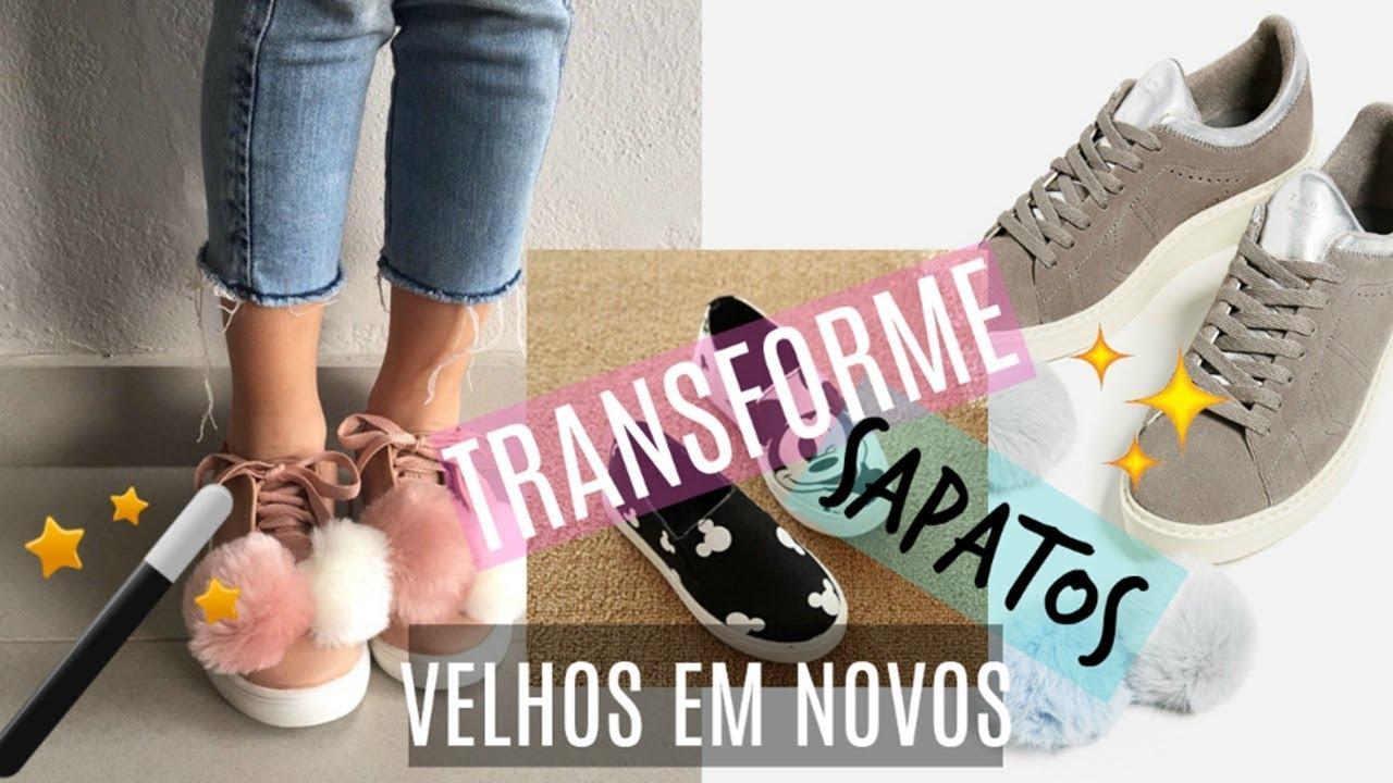 8039bc18204 DIY Transforme seus sapatos VELHOS em NOVOS