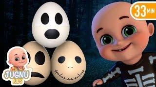 Treat Or Trick | Halloween Surprise Eggs for Kids | Halloween Songs by Jugnu kids