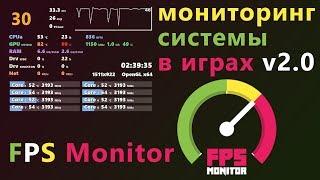 Как мониторить температуры и нагрузки в играх | FPS Monitor