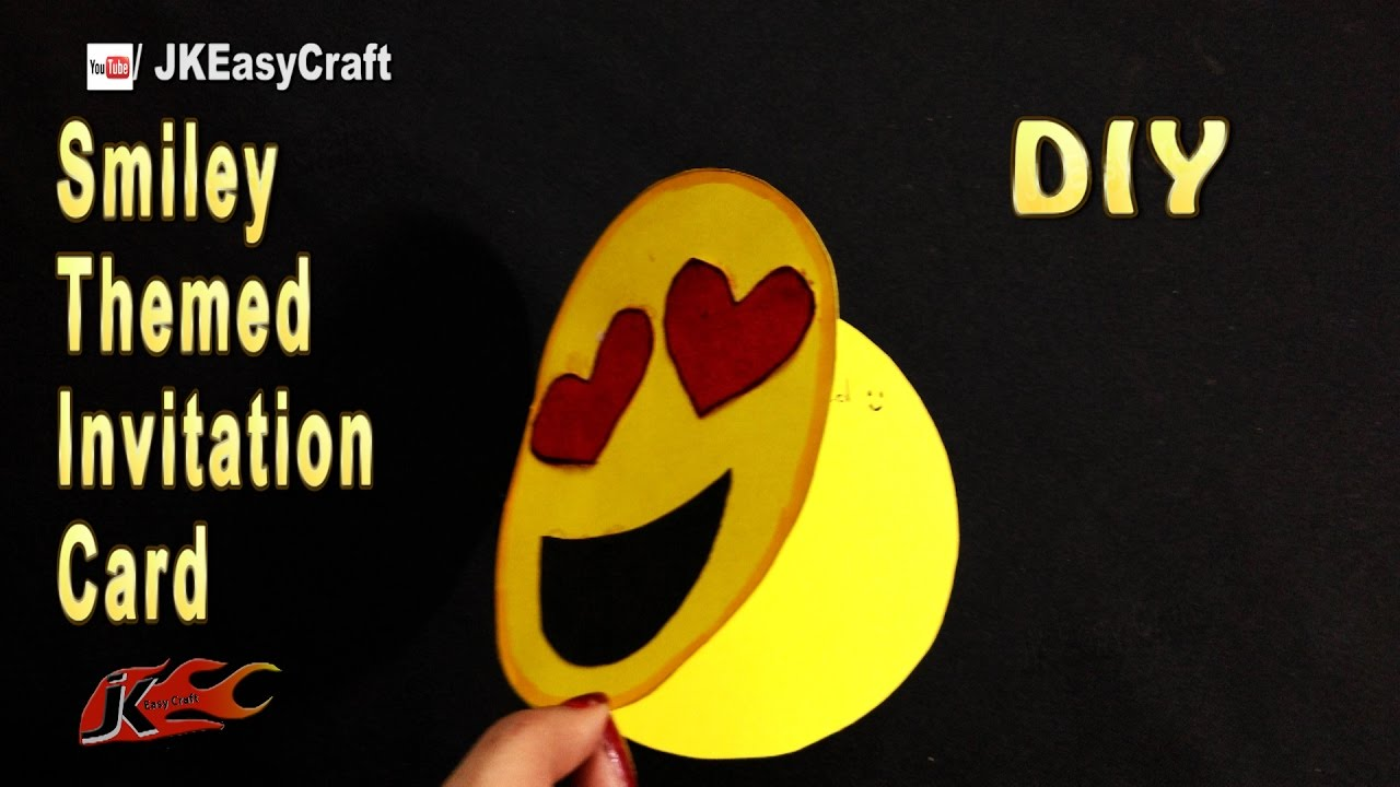 How To Make Emoji Themed Invitation Card
