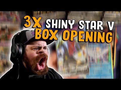 3x SHINY STAR V BOX OPENING - WE STRIKE SHINY GOOOOLD!