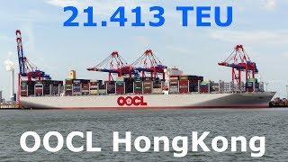 OOCL HONGKONG in Wilhelmshaven - Größtes Containerschiff der Welt