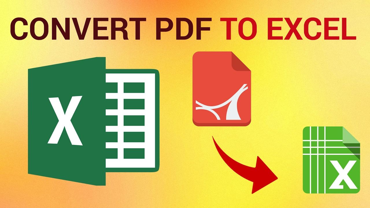 how to convert pdf to excel [ 1280 x 720 Pixel ]