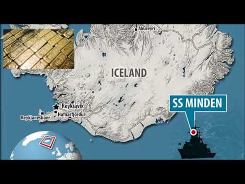 In the sea bottom, gold was found on SS Minden ship.