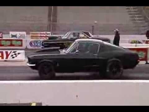 67 Mustang Fastback Drag Racing 408 5-Speed