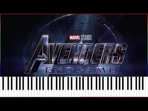 Avengers 4 : Endgame Official Trailer Music (Synthesia Piano Tutorial)+MIDI thumbnail