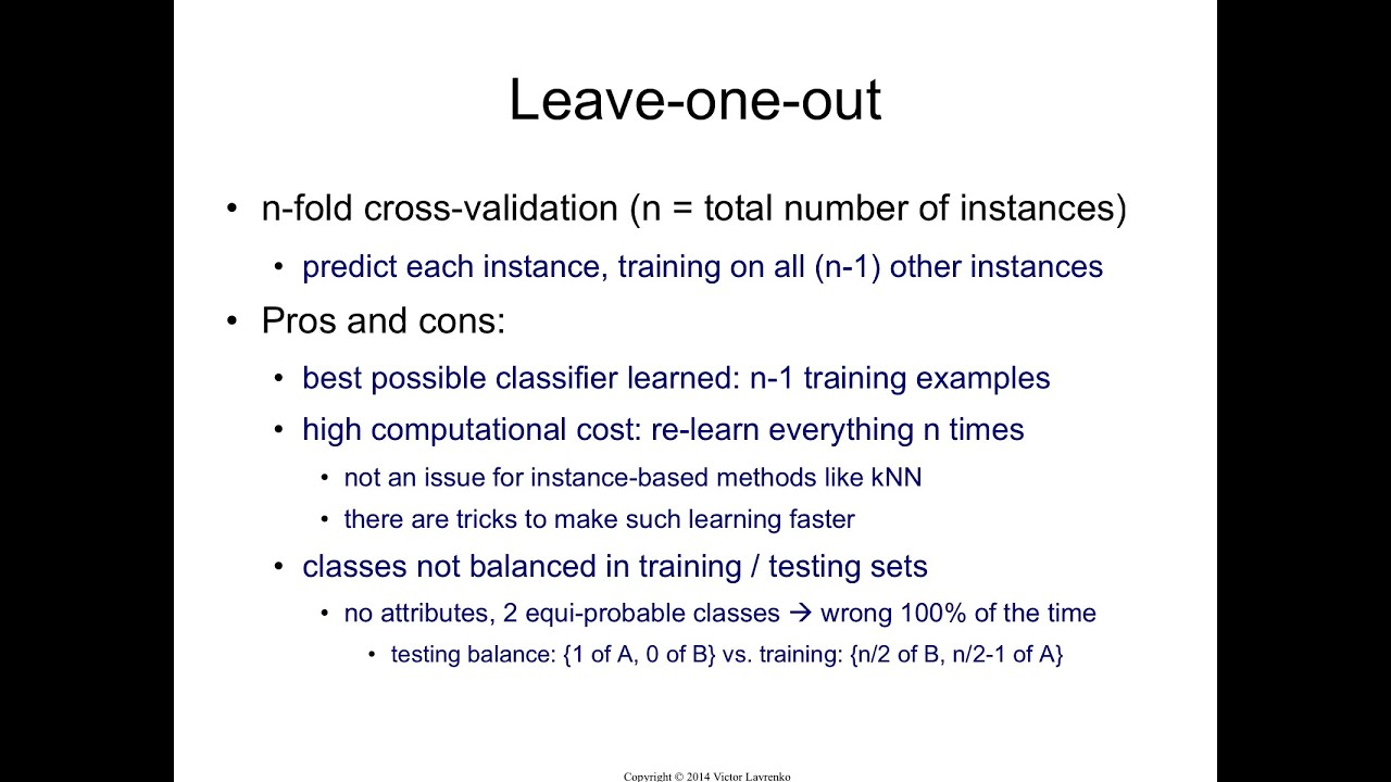 iaml leave one out cross validation