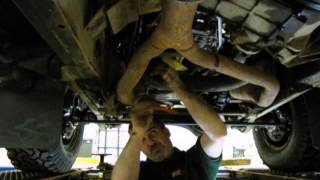 Performing Transmission Service On A Land Rover video screen shot