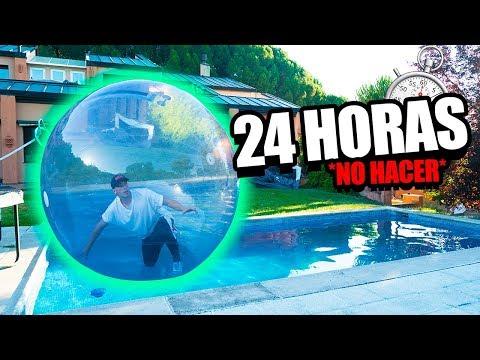 24 HORAS EN UNA BURBUJA INFLABLE *reto extremo*