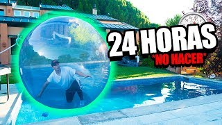 24 HOUR IN GIANT BUBBLE BALL! *extreme challenge*