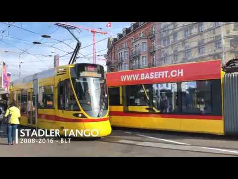 The colorful trams of Basel