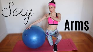 Three BEST Stability Ball Exercises For ARMS