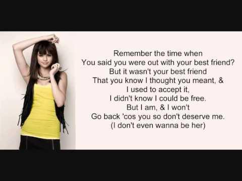 Selena Gomez - I Won't Apologize (Lyrics)