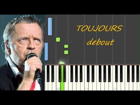 Comment jouer TOUJOURS DEBOUT - Renaud (Partition gratuite)