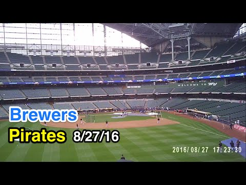 Game 93 of 2016: Ballhawking at Miller Park in Milwaukee.  Brewers vs Pirates