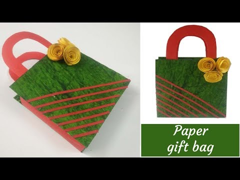 Hand made paper gift bags/How to make a small paper bag/Easy handmade gift bag/PlentyTempty