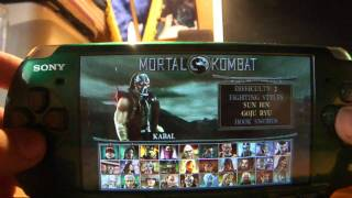 All Mortal Kombat Unchained Characters (PSP)