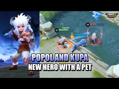 POPOL AND KUPA - A SUPPORT MARKSMAN? - NEW HERO IN MOBILE LEGENDS: BANG BANG