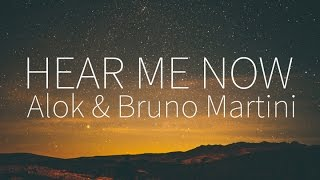 Alok, Bruno Martini feat. Zeeba | Hear Me Now [Lyrics]