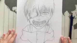 How to draw KANEKI KEN (Tokyo Ghoul) - part one