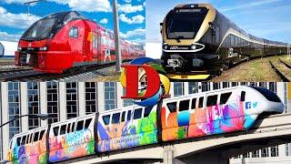 Изучаем цвета и поезда. Развивающее видео про железнодорожный транспорт 2
