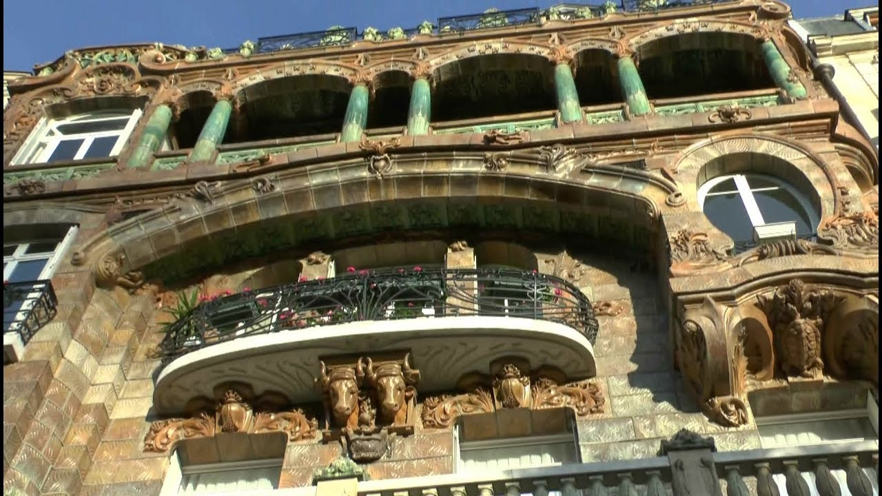 paris france several houses of art nouveau youtube