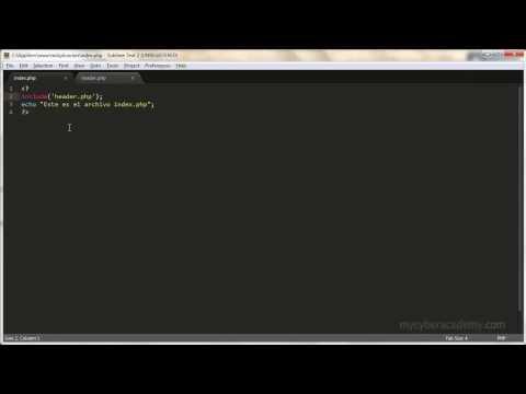 Tutorial PHP - 12 - El Archivo Index