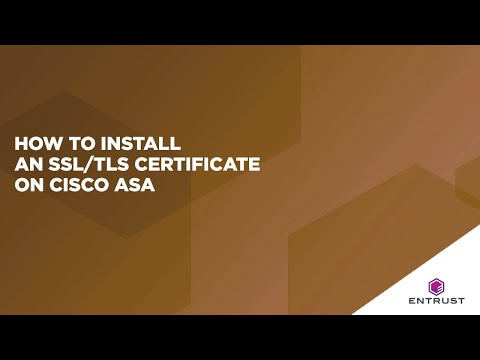 How to Install an SSL/TLS Certificate on Cisco ASA - YouTube