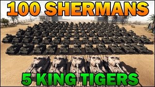 Men of War Assault Squad 2 - 100 Shermans vs 5 King Tigers! - Editor Scenario #5