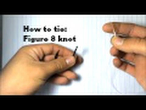 Easy fishing knot || How to tie : Figure 8 knot!!!