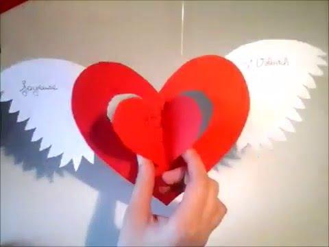 DIY n°2 carte de la st. valentin -laly beagle- - YouTube