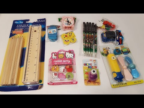 Wooden pencil box and new collection erasers and shopner Craft kit