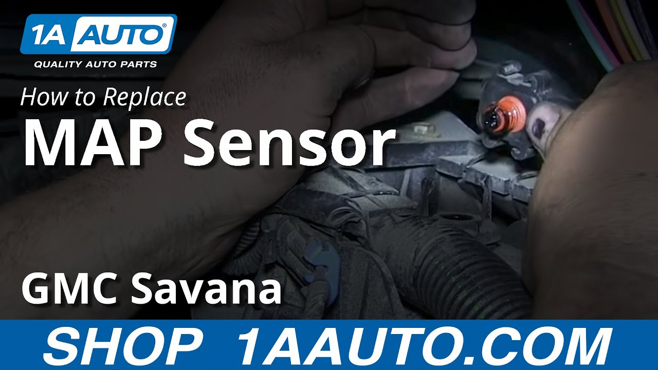 how to replace the map manifold absolute pressure sensor chevy express gmc savana 6 0l [ 1280 x 720 Pixel ]