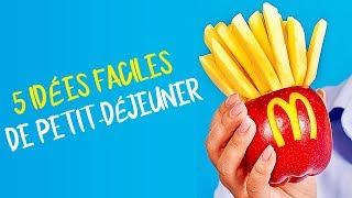 25 IDÉES DE PETIT DÉJEUNERS DÉLICIEUSES MAIS FACILES POUR LES ENFANTS
