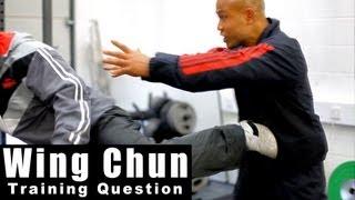 Wing Chun training - wing chun how to deal with turn kick Q9