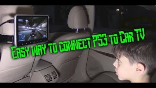 How to Connect PS3 to Car Headrest TV monitor screen