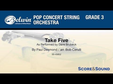 Take Five, arr. Bob Cerulli – Score & Sound