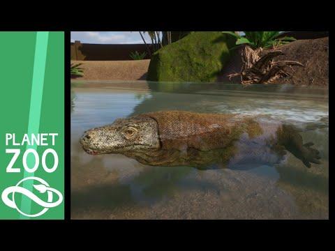 Komodo Dragon Exhibit Speed Build - Planet Zoo |