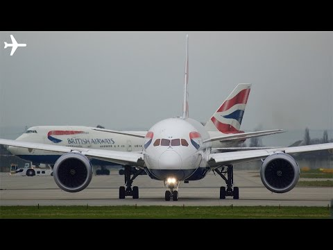 From Old to New- British Airways B747-400 & B787-8 Pushbacks and close up taxi at London Heathrow