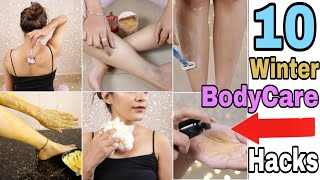 10 Amazing Winter Body Care Hacks | Hair Removal Tips,Sun Tan,Waxing,Scrub,Polish | Super Style Tips
