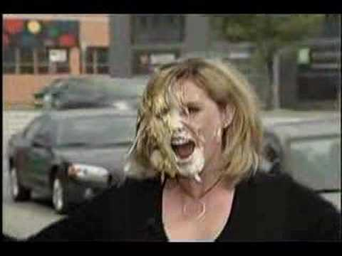 Breakfast Television's Dawn Chubai Pied in the face!