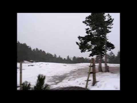 Nevada de nord al collet de les Barraques Ripollès - Febrer 2007