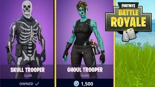 "Fortnite HALLOWEEN SKINS TO BE ADDED SOON? Fortnite ""SKULL TROOPER"" & ""GHOUL TROOPER"" SKINS!"