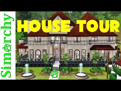 The Sims 3 House Tour - Beverly Hills Inspired Mansion - Large Home Estate with Pool