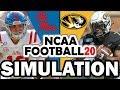 Ole Miss @ Missouri (10-12-2019) Simulation - NCAA Football 20