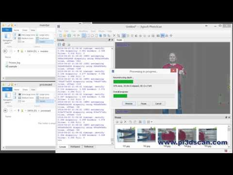 Pi3Dscan - Full automatic 3D scan processing with Agisoft to Sketchfab
